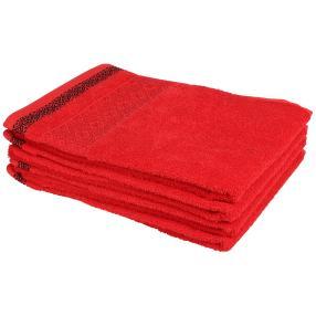 Handtuch-Set 4-teilig, rot