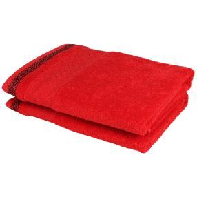 Duschtuch 2tlg. rot 70x140 cm