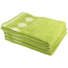 Handtuch 4tlg. Raute Blumen grün 70x140 cm