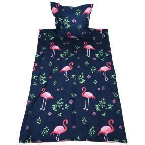AllSeasons Bettwäsche 2tlg. Flamingo blau 135x200