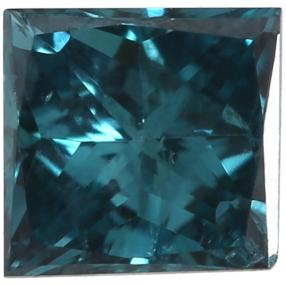 Diamant Princess Schliff Fancy Blue min. 0,20 ct.