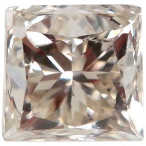Diamant champagnerfarbig Princess Schliff