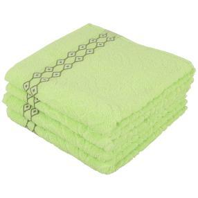 Handtuch 4-teilig, hellgrün