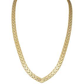 Collier 925 vergoldet, ca. 51 cm