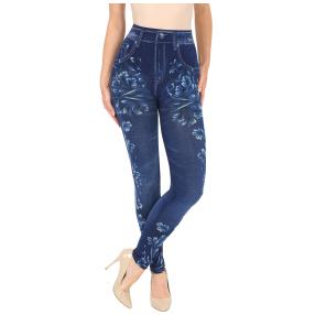 FASHION NEWS Seamless-Jeansleggins, blau