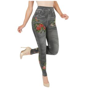 FASHION NEWS  Seamless-Jeansleggings grau, meliert