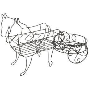 Pflanzregal Pferd mit Wagen