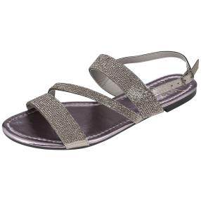 Damen-Sandalen pewter