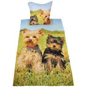 CoolSummer Bettwäsche Hunde, 2-teilig