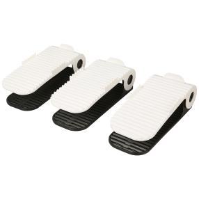 Schuhstapler 3er Set, weiß-schwarz