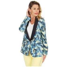 mocca by Jutta Leibfried Blazer zitrone/blau/royal
