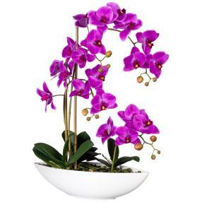 Orchideenarrangement lila, real-touch
