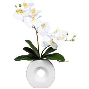 Orchideenarrangement in Vase, real-touch