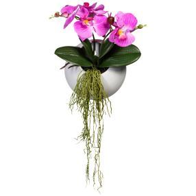 Wandhänger Orchidee dunkelrosa