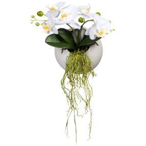 Wandhänger Orchidee weiß
