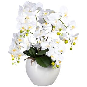 XXL-Orchidee real-touch, weiß, 56 cm