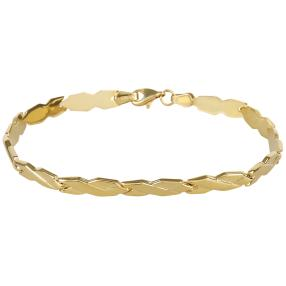 Armband 925 Sterling Silber, vergoldet