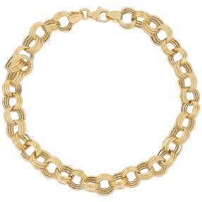 Armband 585 Gelbgold, ca. 20 cm