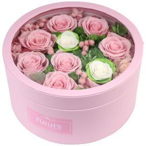 Rosenbox rosé Ø 24cm