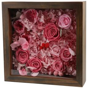 Wandbild Rosen 26x26cm rosé