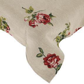 Gobelin-Mitteldecke Rose, 80 x 80 cm