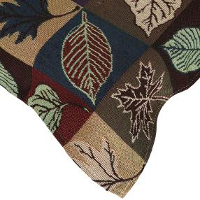 Gobelin-Mitteldecke Blätter, 80 x 80 cm
