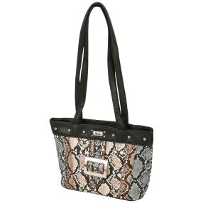 Marc Chantal Shopper Python, beige, braun