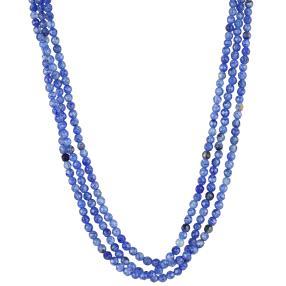 Collier 3-reihig Achat Blue