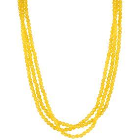 Collier 3-reihig Achat gelb