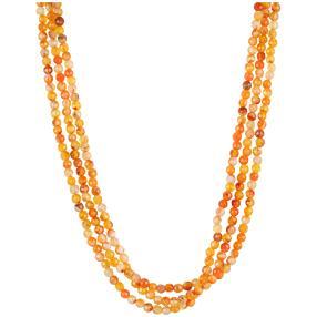 Collier 3-reihig Achat orange