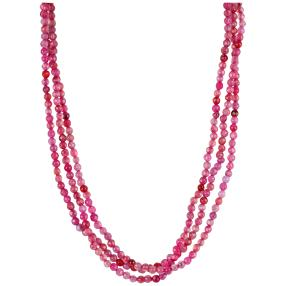 Collier 3-reihig Achat London red