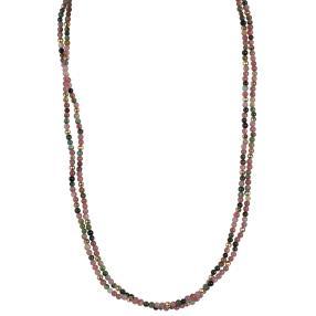 Kette/Armband Turmalin+Hämatit, ca. 105 cm