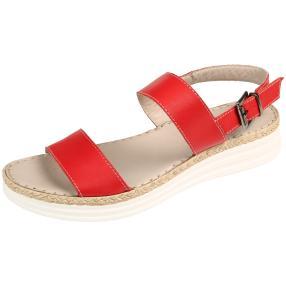 Andrea Conti Damen Leder-Sandalen rot