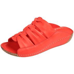 Andrea Conti Damen Leder-Pantolette rot