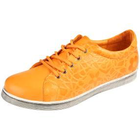 Andrea Conti Damen Leder-Schnürer orange