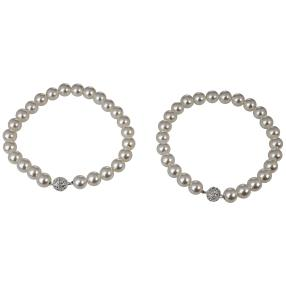 Gardinenhalter Perlen 2er-Set mit Magnet