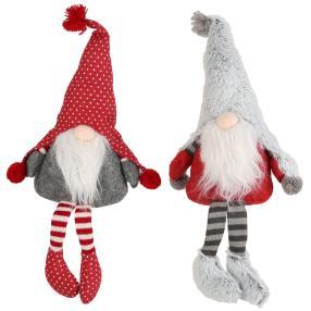 Weihnachtswichtel 2er Set, gestreifte Beine