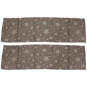 Tischläufer Sterne 2er-Set anthrazit, 40x140 cm
