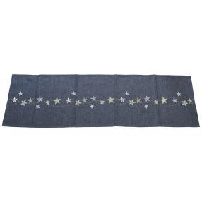 Tischläufer Sterne anthrazit