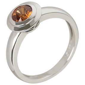 Ring 925 Sterling Silber AAAZirkon orange