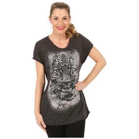 Damen Shirt 'Mystik Leopard' schwarz melange