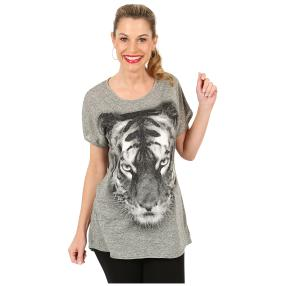 Damen Shirt 'Tiger' hellgrau