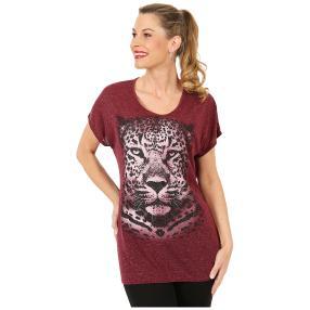 Damen Shirt 'Leopard' bordeaux