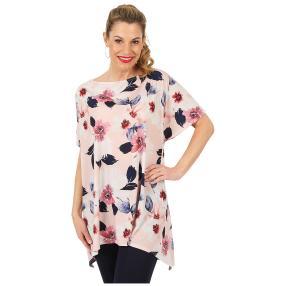 Damen Shirt 'Flower Power' rosa/multicolor