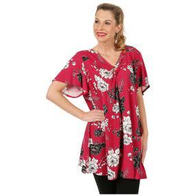 Damen Shirt 'Classic Flower' bordeaux