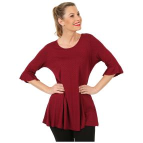Damen Shirt 'Fiona' bordeaux