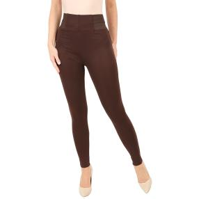 Damen Leggings 'Chic' dunkelbraun, Inch 27