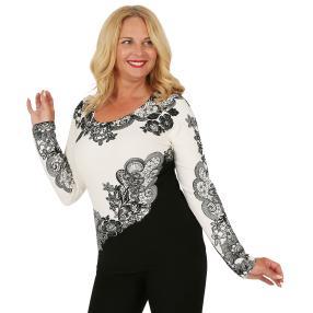 MILANO Design Pullover 'Farini', schwarz/weiß