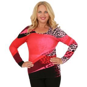 MILANO Design Pullover 'Loreto' pink/multicolor