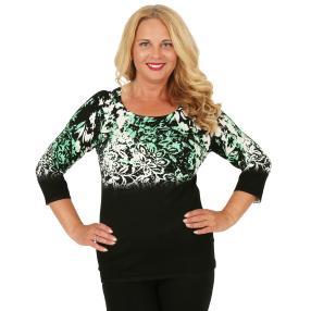 MILANO Design Pullover 'Vergani' schwarz/weiß/grün